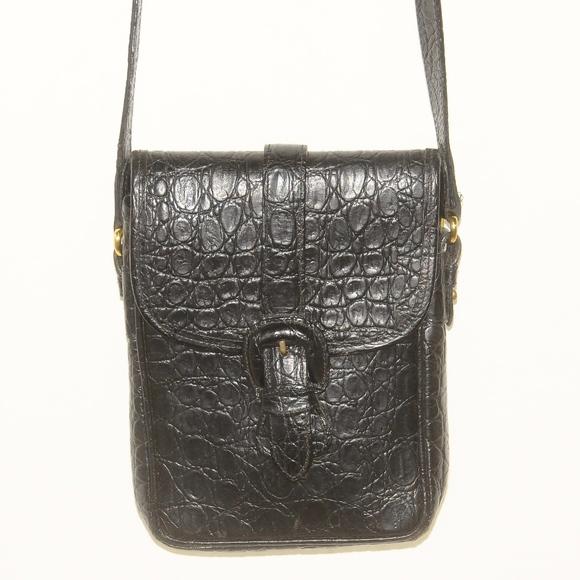 Joan   David Bags   Vintage Joan David Black Crocodile Leather Bag ... d8e0863dc0